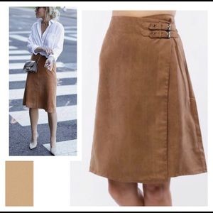 Dresses & Skirts - Chocolate Side-Buckle A-Line Skirt